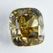 IGI Certified 1.00Cts 100% Natural Fancy Light Brownish Yellow Colour Diamond
