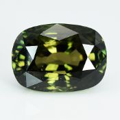 GIA Certified 8.01Cts 100% Natural Brown Green Changing Yellow Brown