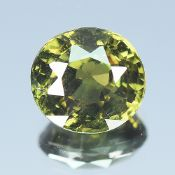 GIA Certified 1.24Cts 100% Natural Alexandrite Yellowish Green Changing To Brownish Yellow