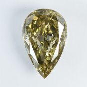 IGI Certified 1.01Cts 100% Natural Fancy Light Brownish Yellow Colour Diamond
