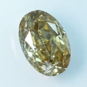 IGI Certified 1.03Cts 100%Natural Fancy Light Greenish Yellowish Brown Colour Diamond
