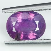 GIA Certified 2.46Cts 100% Natural Pink Purple Colour Kashmir Sapphire