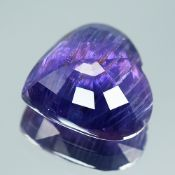 Lotus Certified 13.26Cts 100% Natural Rich Purplish Violet Burma ( Myanmar ) Sapphire