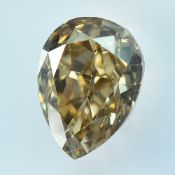 IGI Certified Si1 1.20Cts 100% Natural Fancy Light Brown Colour Diamond