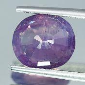 AIGS Certified Pakistan ( Kashmir ) 5.18Cts 100% Natural Sapphire Pinkish Purple Sapphire