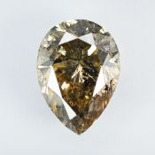 IGI Certified 1.01Cts 100% Natural Fancy Light Yellowish Brown Colour Diamond