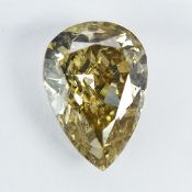 IGI Certified 1.36Cts 100% Natural Fancy Light Brownish Yellow Colour Diamond