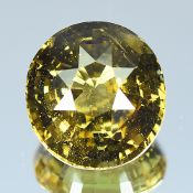 GIA Certified 7.02Cts 100% Natural Alexandrite Yellow Green Changing To Yellow Brown