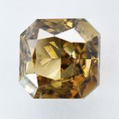 IGI Certified 1.50Cts 100% Natural Fancy Yellowish Brown Colour Diamond