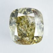 IGI Certified 1.11Cts 100%Natural Fancy Light Brownish Yellow Colour Diamond