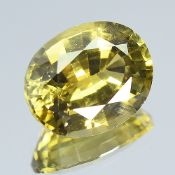 GIA Certified 3.07Cts 100% Natural Alexandrite Brown Green Changing To Brown Yellow Colour