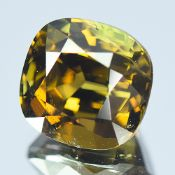 GIA Certified 5.55Cts 100% Natural Alexandrite Brownish Green Changing To Yellowish Brown Colour