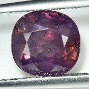 AIGS Certified 3.74Cts 100% Natural Pinkish Purple Colour Kashmir Sapphire