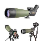 Gosky angled spotting telescope 20-60x80 weatherproof bird watching + adapters rrp £299.99