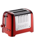 Dualit 2 slot lite toaster wide slot red eu plug with free uk adapter rrp £75