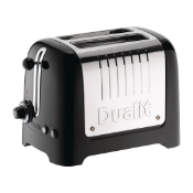 Dualit 2 slot lite toaster wide slot black eu plug free with uk adapter rrp £75
