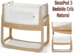new snuzpod 3 bedside crib natural rrp £249