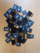 new 50 x 2gb micro sd cards