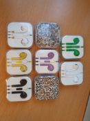 8 x mix styles high quality earphones with volume control and mic rrp£40
