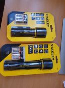 2 x new stanley torches rrp £50