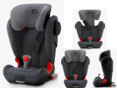 new britax römer kidfix ii xp sict br black series group 2/3 car seat storm grey