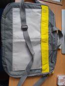 "new genuine calvin klein grey & yellow laptop carrier / bag 14.5""x10.5"" rrp £99"