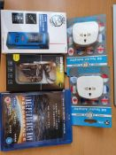 new mix items laser range finder, universal plugs adapters etc rrp £70