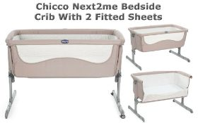 chicco next 2 me side sleeping bedside crib with mesh window rrp £299