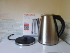 refurbished morphy richards 103005 3kw 1.7 litre kettle rrp £99.99