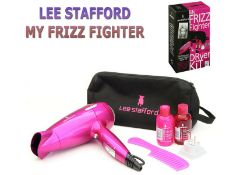 new lee stafford frizz fighter travel hair kit and poker straighteners rrp£99