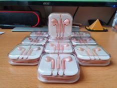 7 x new rose gold earphones rrp £35 pwerfect xmas gifts