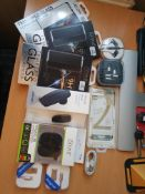 new mix items samsung bluetooth headset, iphone charger etc rrp£150