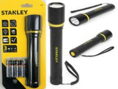 2 x stanley everyday a 500 lumen (20.5cm) aluminium led torch 65401 £50