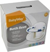 new babyway 6m-12m baby bath support seat 4x suction pad