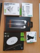 new mix items vidvie earphones, type-c fast charger, air vent etc rrp £120