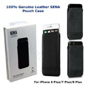 2 x sena ultra slim genuine leather iphone 6+/7+/8+ pouch case rrp £80
