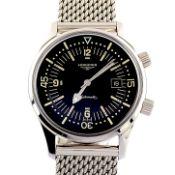Longines / Legend Diver - Gentlemen's Steel Wrist Watch