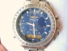 Breitling / New Pluton 3100 Full Set - Gentlemen's Steel Wrist Watch