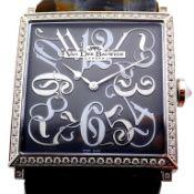 Van Der Bauwede / Labyrinth Garden Diamond - Lady's Steel Wrist Watch