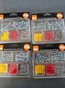 40 packs - plugs and screws