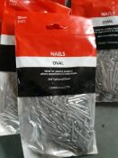 20 packs - 30mm oval nails