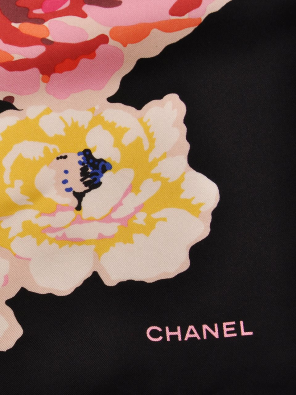 Chanel - Floral Print Silk Twill Scarf - Image 2 of 3