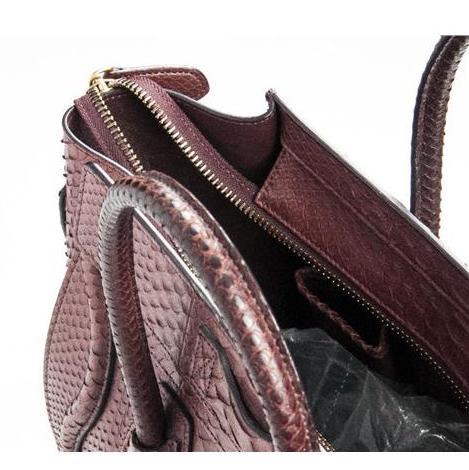 Celine - Mini Luggage Piton Bag - Image 5 of 8