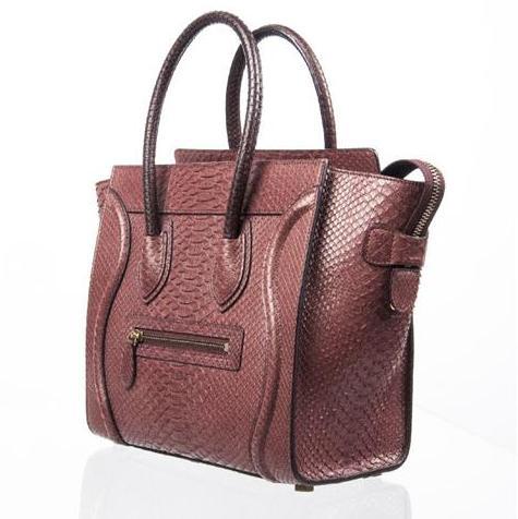 Celine - Mini Luggage Piton Bag - Image 6 of 8