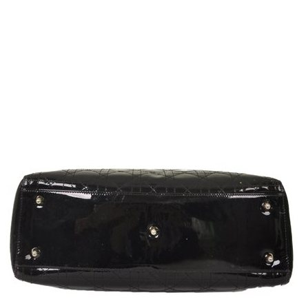 Christian Dior - Lady Dior Large Patent Leather Hand Bag - Image 2 of 5