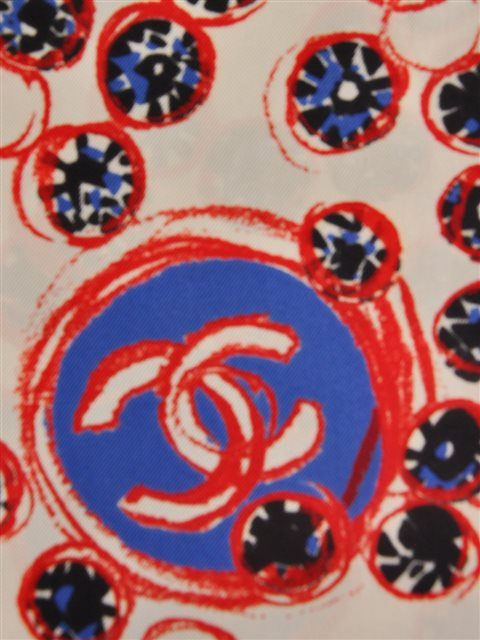 Chanel - Silk Twill Scarf - Image 2 of 4