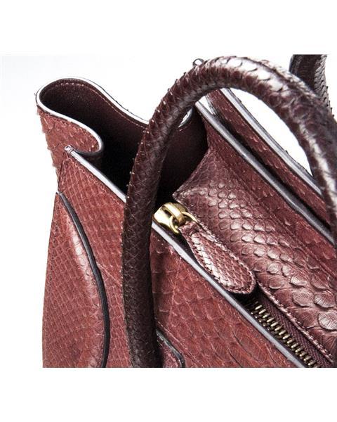Celine - Mini Luggage Piton Bag - Image 4 of 8