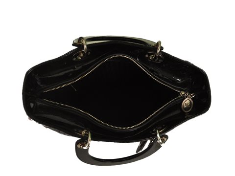 Christian Dior - Lady Dior Large Patent Leather Hand Bag - Image 3 of 5