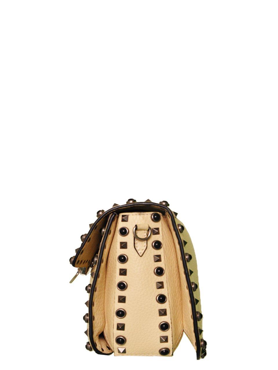 Valentino - Rockstud Butterfly Strap Leather Shoulder Bag - Image 3 of 6