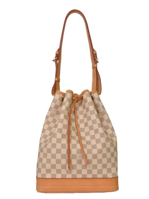 Louis Vuitton - Damier Azur Noe Bucket Leather Shoulder Bag